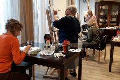 Schilderijen schildercursus