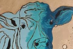 Schilderij van koe