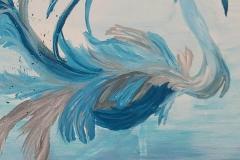 Schilderij van vogel